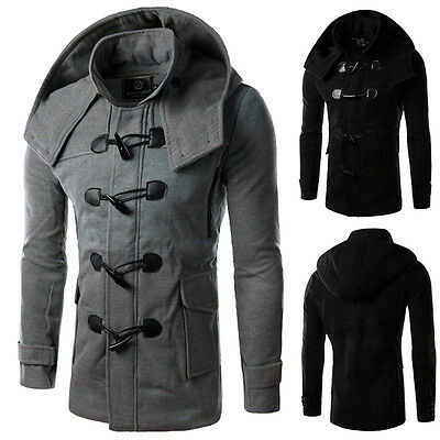 stylisch herren enge passform trenchcoat winter warm lange jacke mantel au en eur 9 51. Black Bedroom Furniture Sets. Home Design Ideas