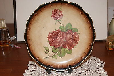 Vintage...limoges  China....hand Painted Roses....collector Plate