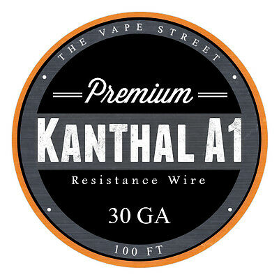 100FT - 30 GA The Vapest Kanthal A1 Round Resistance Wire AWG Gauge 100' 0.25mm
