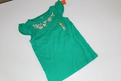 Gymboree THE GREEN SCENE White Gold Embroidered Cotton Top Shirt Tee NWT 4 6