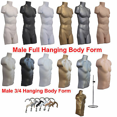 ❤ A1 Male Hanging Body Form Plastic Mannequin Torso Bust Shop Retail Display ❤