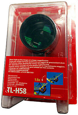 NEW Canon TL-H58 1.5x Telephoto camcorder tele lens 3573B001 for 58mm thread