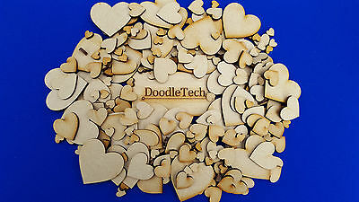 Wooden Heart shapes Laser Cut MDF Blank Embellishments Craft Decorations Wedding