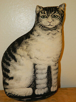 Antique Vintage Pillow Doll Tabby Cat Creepy