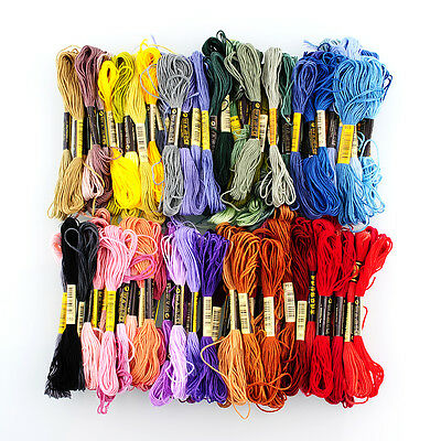 100 Different Colors Cross Stitch Cotton Embroidery Thread Sewing Skeins