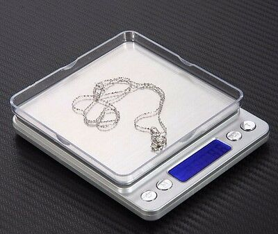 Digital Scale 2000g x 0.1g Jewelry Gold Silver Coin Gram Pocket Size Herb Grain