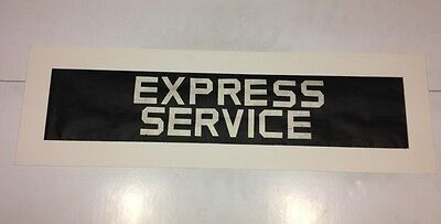 """South Notts Bus Blind 25"""" - Very Rare - Express Service"""