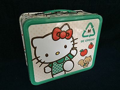 Hello Kitty Be Green Metal Lunch Box