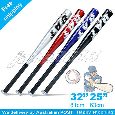 "25""63CM/32""81CM Aluminium Baseball Bat Racket Softball Outdoor Sports Brand New"