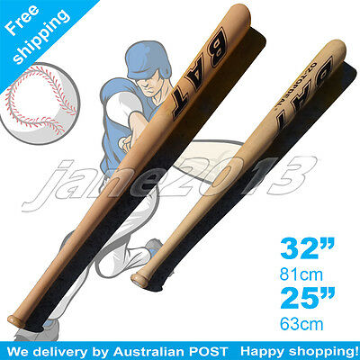 "25""32""High Quality Outdoor Wood Baseball Bat Wooden Softball Bat 63/81cm"