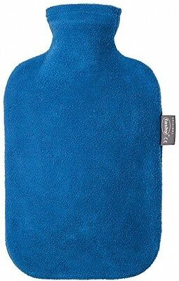 Fashy 6530 54 2007 Hot Water Bottle 2 L With Blue Fleece Cover