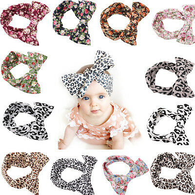 6/12 PCS Kids Girl Baby Headband Toddler Bow Hair Band Accessories Headwear Set