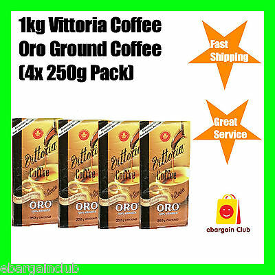 1kg Vittoria Oro Ground Coffee (4x250g pack) 100% Arabica