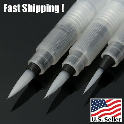 3pcs Pilot Ink Pen For Watercolor Water Brush Pen Calligraphy Painting Tool Set