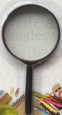 2 x Magnifying Glass Hand Held Magnifier For Stamps Coins & Collectables x 2pc