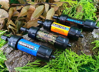 Sawyer Mini Water Purification Filter Kit Bushcraft Survival Camping Hiking Edc