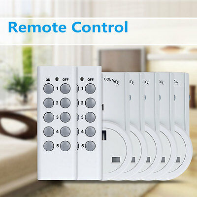 1/2/3/4/5 Remote Control Socket Wireless Switch Mains UK Plug AC Power Outlet