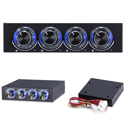 STW-6002 4 Channel Speed Fan Controller Computer with Blue LED GDT Controller