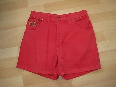 Pepe High Waisted Vintage Red Shorts 90s Size 12 Festival