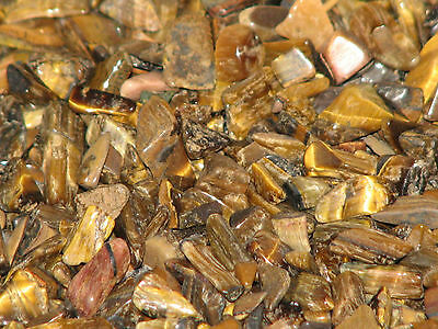 100 grams Tiger Eye Crystal Chips,  Gold and Brown Colour