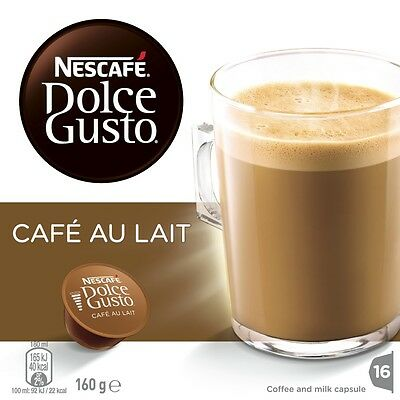 NEW Nescafe Dolce Gusto 12204965 Cafe Au Lait Pods