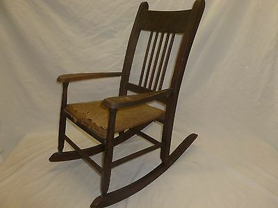 Antique Old  Wood Primitive Childs Kids Toddler  Rocker Rocking Chair