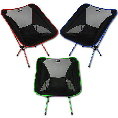 Trail Ultra-Lightweight Camping Chair Collapsible Folding Aluminium Seat 1kg