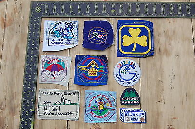 Lot of 10 Girl Guides Canada RARE Vintage Sample Patches/Badges #20