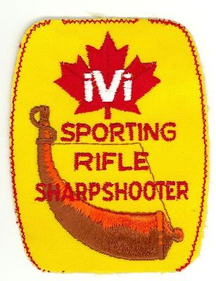 HTF Vintage Sporting Rifle Sharpshooter IVI Canada Patch Hunting