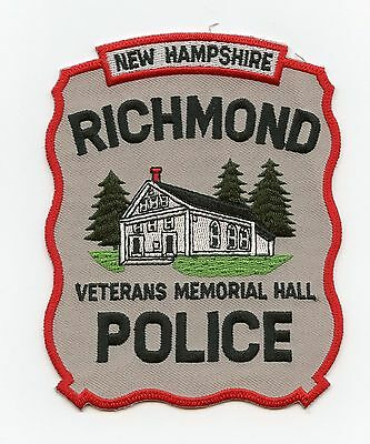 Richmond Police, New Hampshire, USA, HTF Vintage Shoulder Flash/Patch