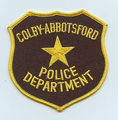 Colby-Abbotsford Police, Wisconsin, USA Vintage Shoulder/Uniform Flash/Patch
