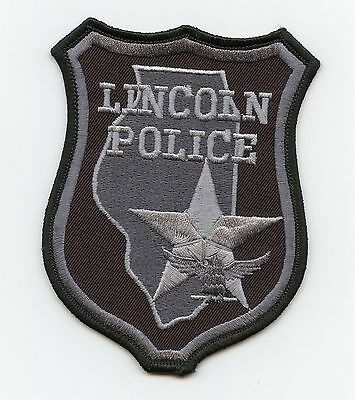 Lincloln Police, Illinois, USA, HTF Vintage Tactical Shoulder Flash/Patch