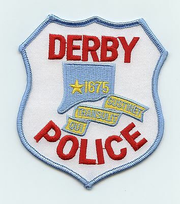 Derby Police, Connecticut, USA, HTF Vintage Shoulder Flash/Patch