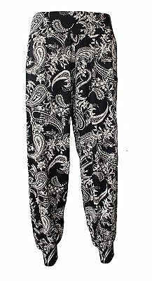 New Floral Paisley Print Ladies Harem Trouser Baggy Aladin Boho Hippy Ali Baba
