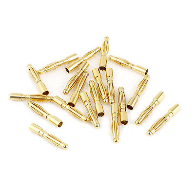 2mm Inner Dia Male Banana Plug Bullet Connector Replacement 20 Pcs MH ZH