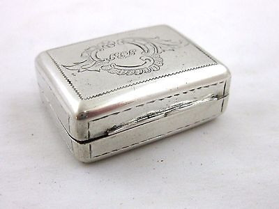 Antique Solid Silver  LARGE  VINAIGRETTE  GERMAN 19th CENTURY