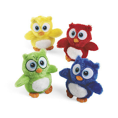 12 Plush OWLS Stuffed Animals baby shower BIRTHDAY Party Favors
