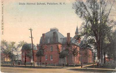Potsdam New York birds eye view State Normal School antique pc Z20547
