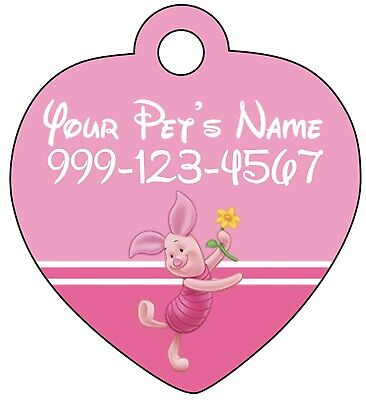 Disney Piglet Pet Id Tag for Dogs & Cats Personalized w/ Name & Number