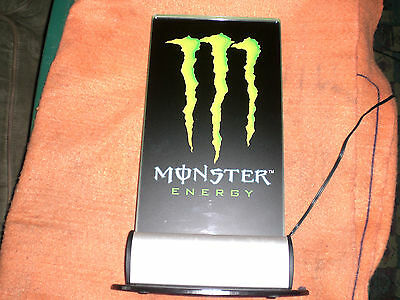 Monster Energy Neon Tabletop Sign Vintage Very Rare