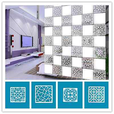 4pcs Hollow out of carve patterns Sitting room office partition hanging screen F