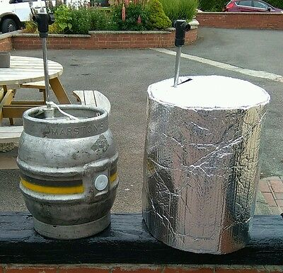 INSULATED CASK COVER, cooler, real ale, lager, beer, kegs outside party bar pub