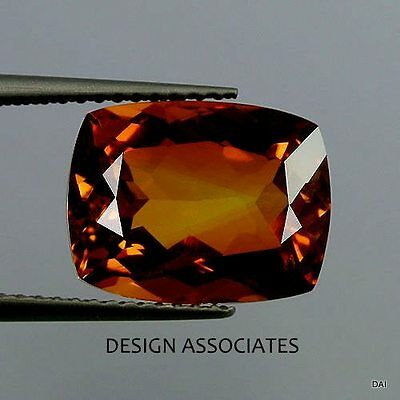 Natural Madeira Citrine 12 X 10 Cushion Cut Aaa