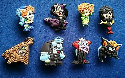 8 Pc Hotel Transylvania Dracula Jibbitz Shoe Charms Cake Toppers Party Favors