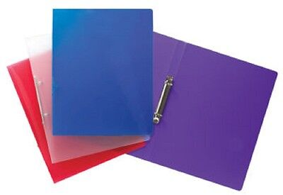 Tiger A4 Slim 15mm 2 ring projectstyle ring binder in assorted colours x1 binder