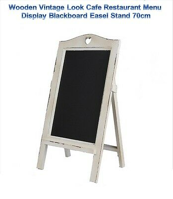 Wooden Vintage Look Cafe Restaurant Menu Display Blackboard Easel Stand 70cm