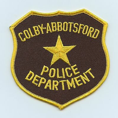 Colby-Abbotsford Police Dept., Wisconsin, USA, HTF Vintage Shoulder Flash/Patch