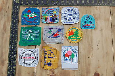 Lot of 10 Girl Guides Canada RARE Vintage Sample Patches/Badges #12