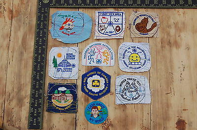 Lot of 10 Girl Guides Canada RARE Vintage Sample Patches/Badges #9