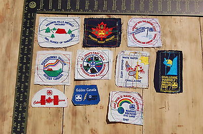 Lot of 10 Girl Guides Canada RARE Vintage Sample Patches/Badges #7